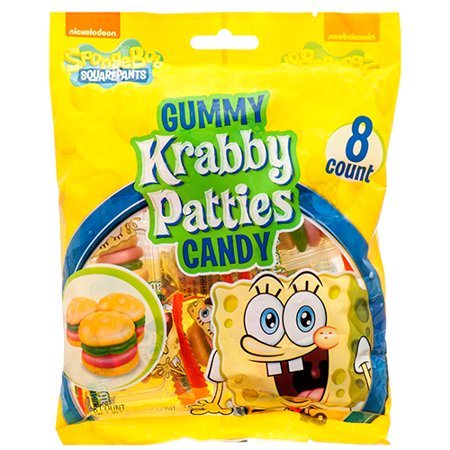 New 377441  Spongebob Gummy Krabby Patties 2.54 Oz (12-Pack) Candy Bag Cheap Wholesale Discount Bulk Candy Candy Bag Air Freshener](Spongebob Candy)