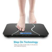 Zimtown 180kg/396lb Digital Bathroom Weight Scale (Black)