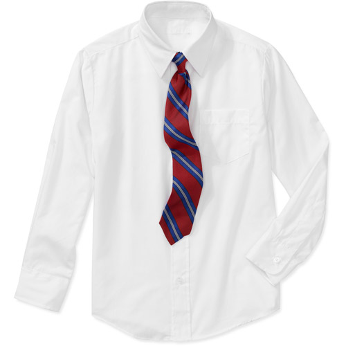 Boys' Long-sleeve Shirt And Tie