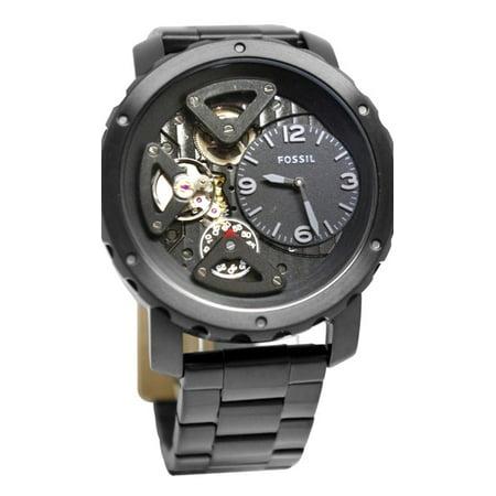 Fossil ME1133 Nate Twist Black Steel Watch New