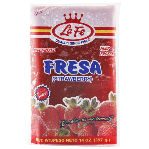 La Fe Frozen Strawberry Pulp, 14 oz