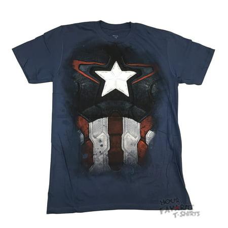 Avengers Age Of Ultron Captain America Costume Marvel Adult T-Shirt