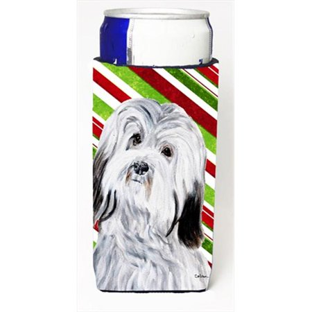Havanese Candy Cane Christmas Michelob Ultra bottle sleeves Slim Cans  12 Oz. - image 1 de 1