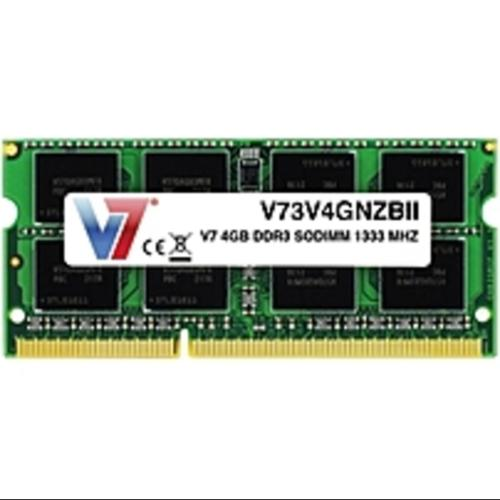 V7 4GB DDR3 1333MHz PC3-10600 SO-DIMM Notebook Memory - 4 GB (1 x (Refurbished)