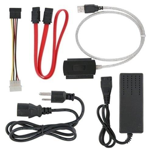 Fosmon High Quality USB 2.0 to External IDE SATA Converter Cable HDD Kit with AC Power Adapter
