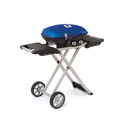 Napoleon Tq285x Bl Travelq 285 Portable Propane Grill With Sissor Cart