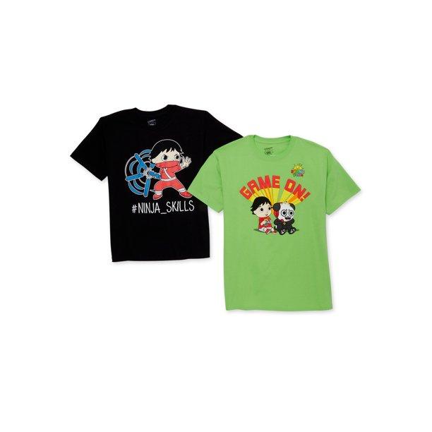Ryan's World Boys 4-8 Ninja Game On Short Sleeve Graphic T-Shirts, 2-Pack