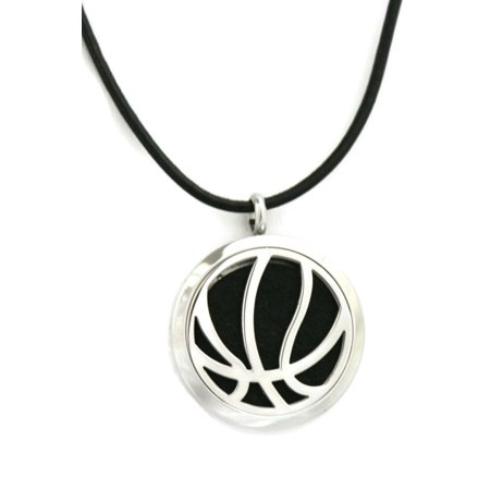Basketball Stainless Steel Essential Oil Diffuser Necklace- 30mm