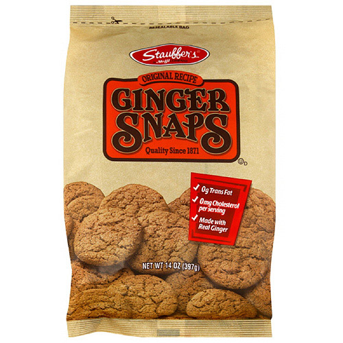 Stauffer's Ginger Snaps Cookies, 14 oz (Pack of 12)
