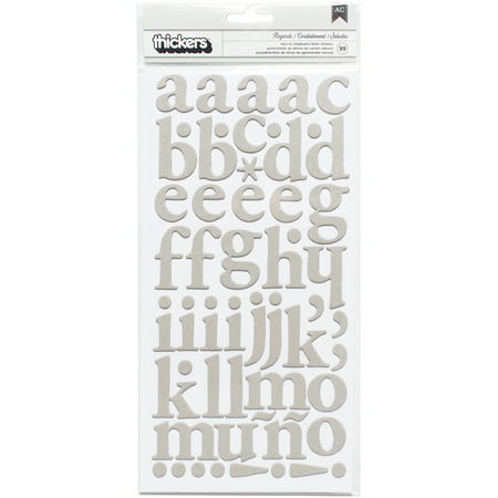 DIY Shop 3 Thickers Alphabet Stickers 5.5