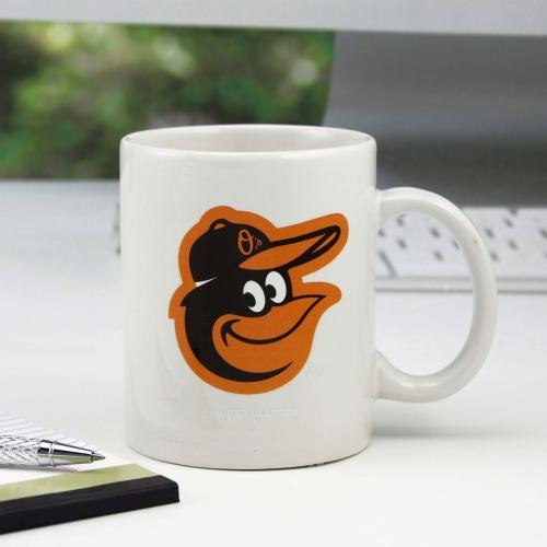 Baltimore Orioles 11oz. C-Handle Mug - White - No Size