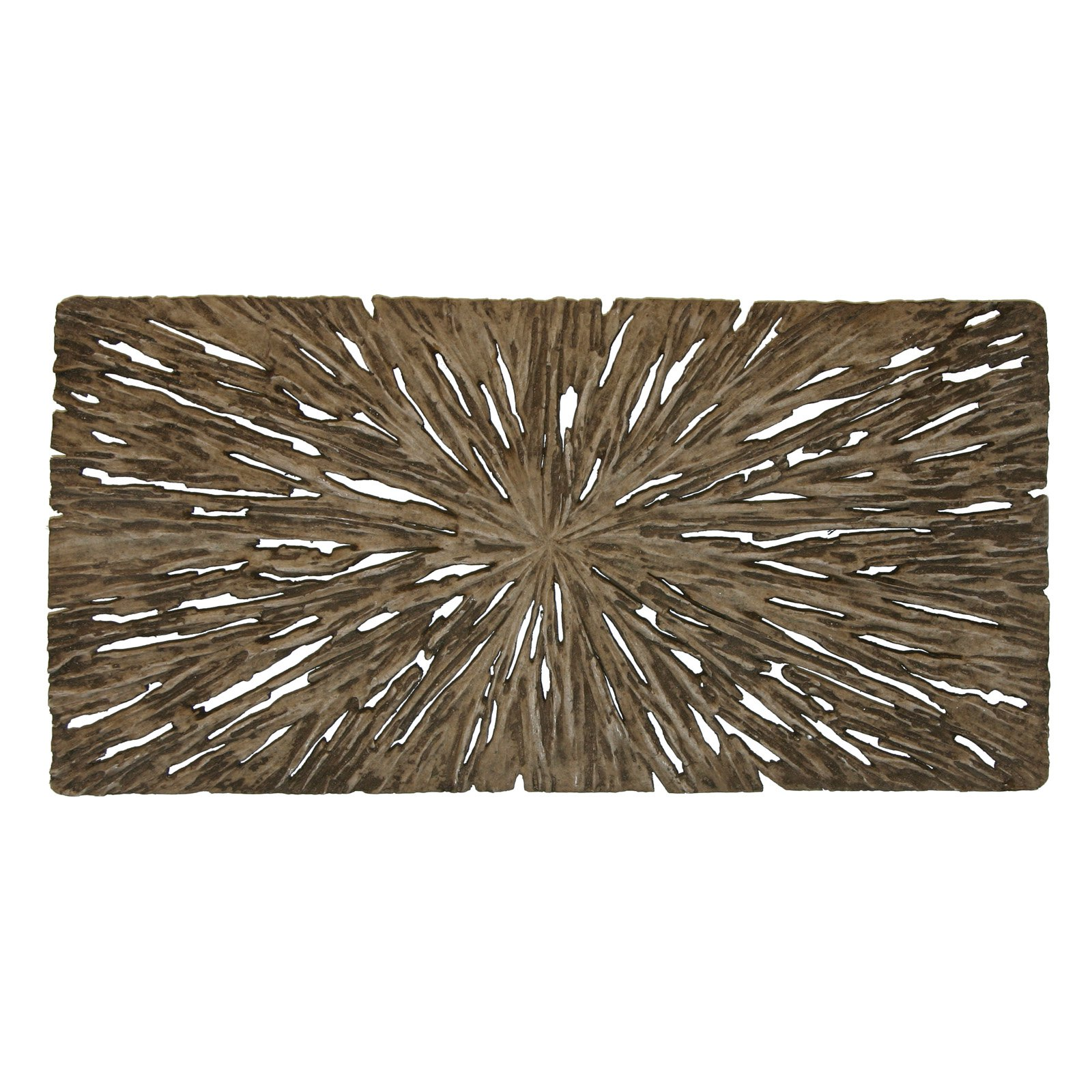 Long Rectangle Rotten Wood Wall Art - Set of 2