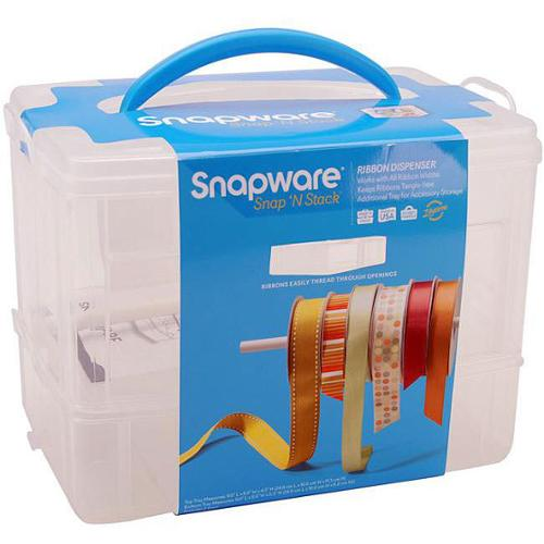Spaware Snap 'n Stack 2-layer Craft Organizer and Ribbon Dispenser