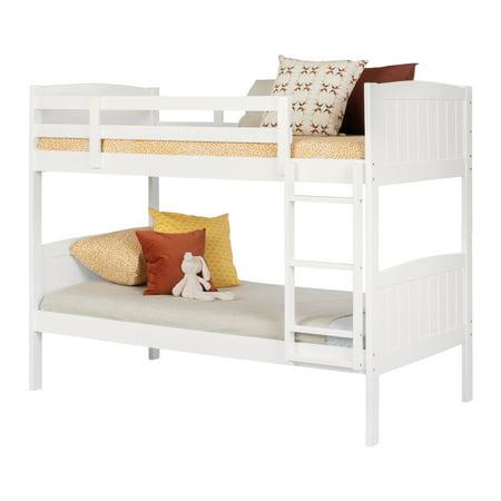 South Shore Savannah Solid Wood Bunk Beds White Walmart Com