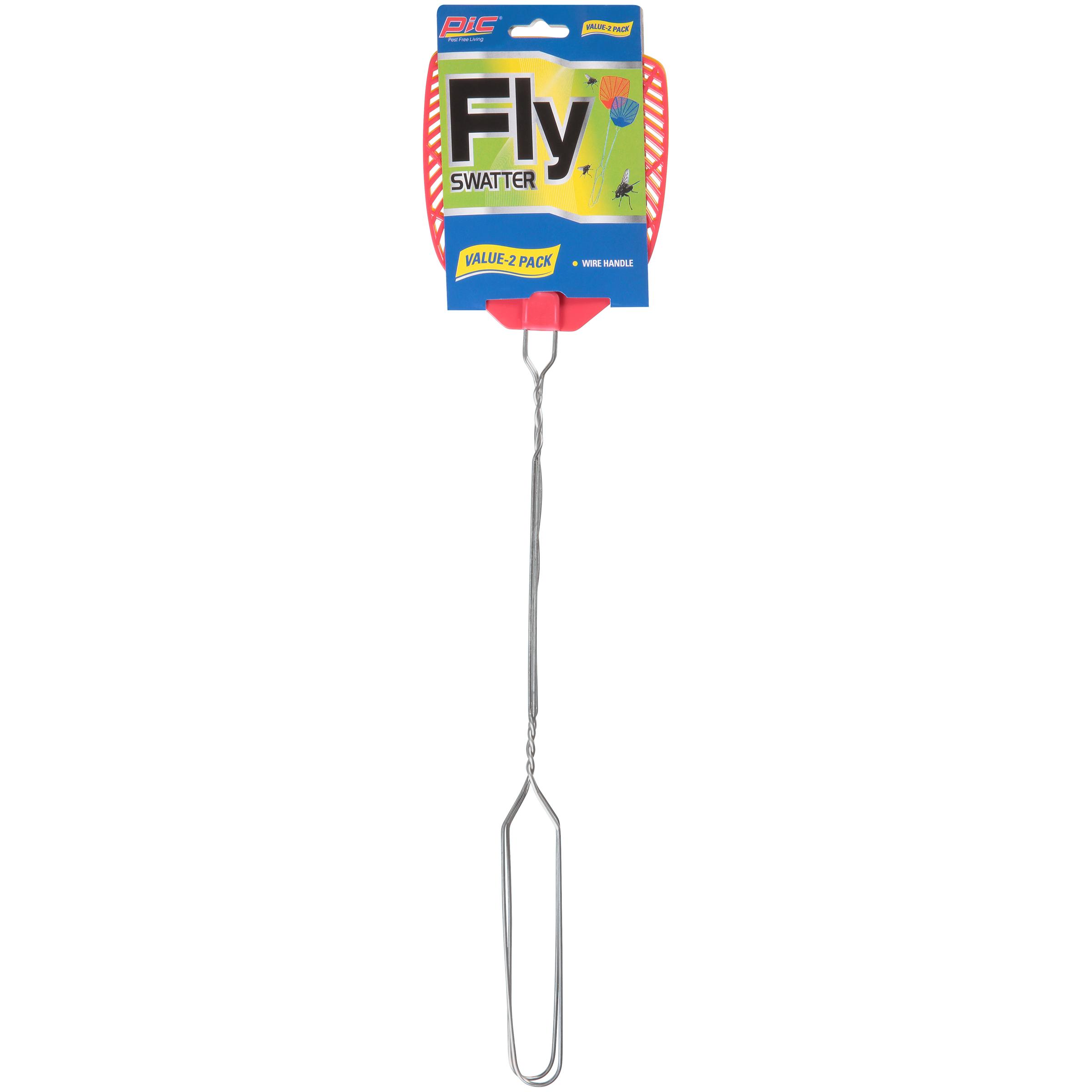 PIC® 2pk Metal Handle Fly Swatter
