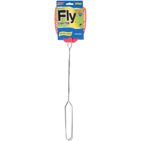 PIC® 2pk Metal Handle Fly Swatter - Giant Fly Swatter