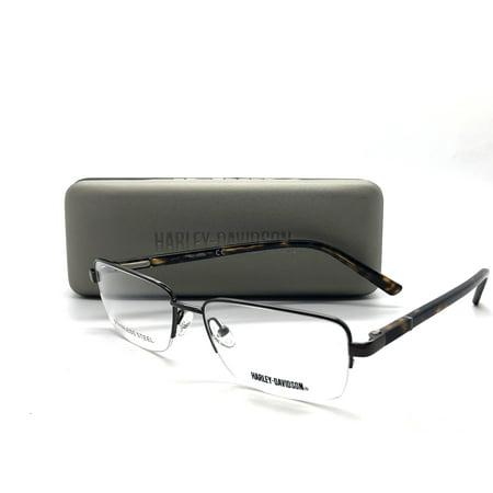 Harley Davidson Semi Rimless Eyeglasses HD0734 V 048 demo lens (Mens Semi Rimless Frames)