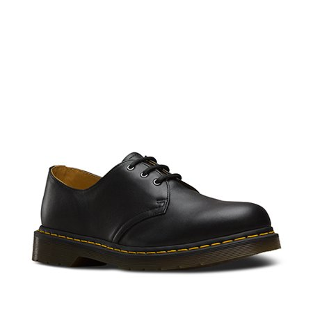 Dr. Martens 1461 3 Eye Gibson Black Uk 11 - Dr Martens On Girls
