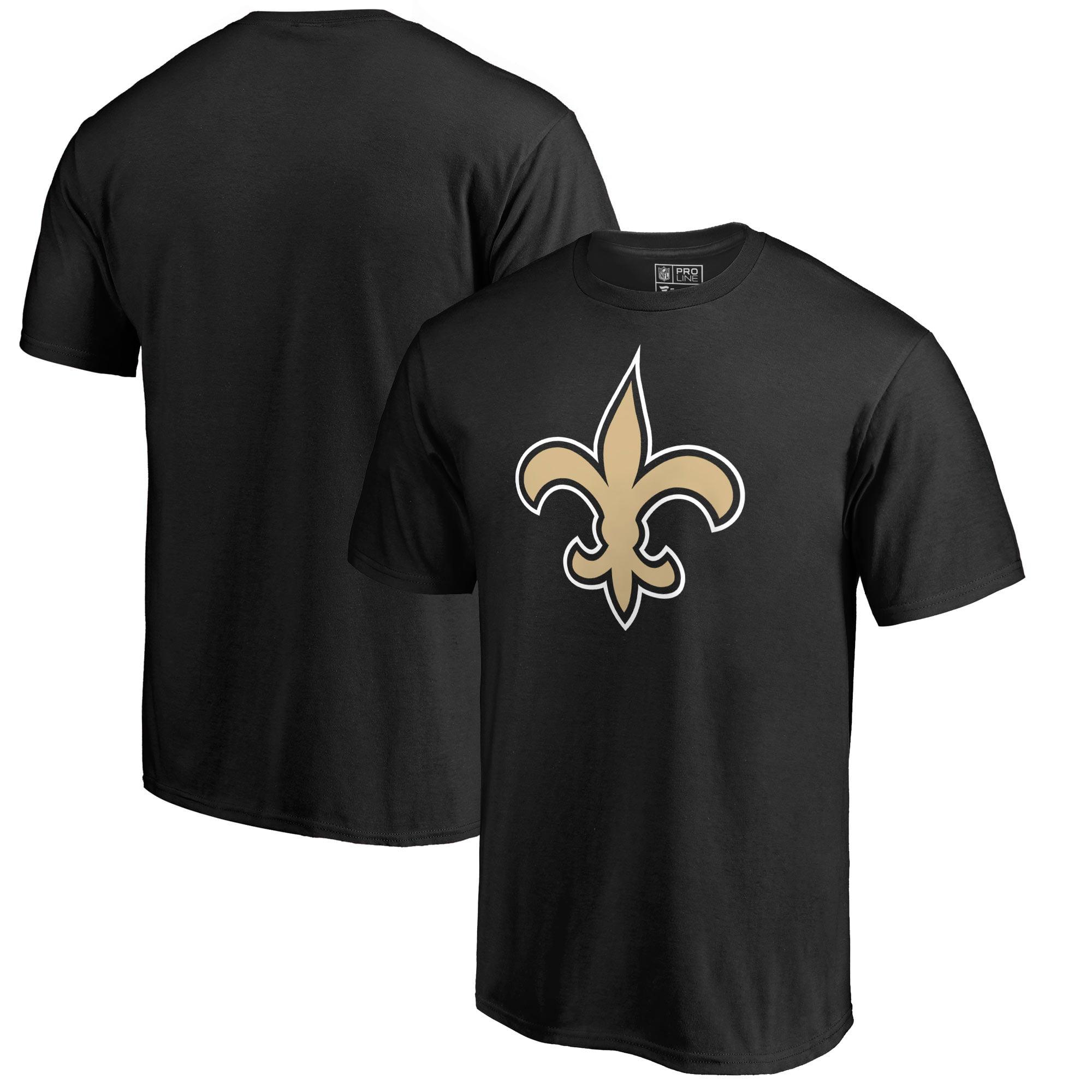 New Orleans Saints NFL Pro Line by Fanatics Branded Primary Team Logo T-Shirt - Black