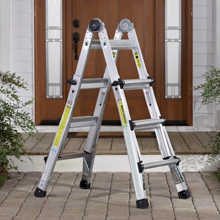 5 Tier Ladder - Cosco 13 ft. Aluminum 5-in-1 Multi-Position Ladder with 300 lb. Load Capacity Type IA Duty Rating