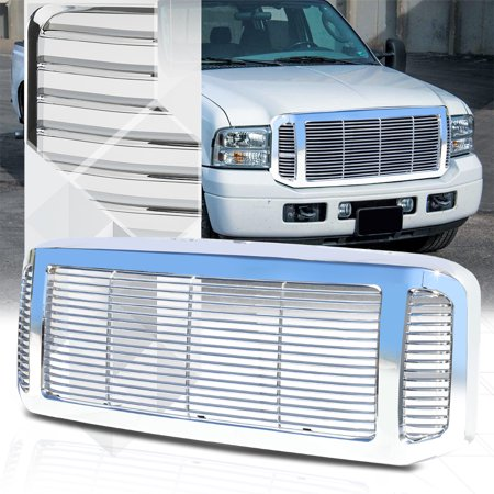 - Chrome ABS Horizontal Bar Billet Grille/Grill for 05-07 Ford F250/F350/Excursion 06