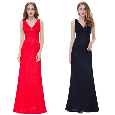 Pretty Dresses For Sale (Ever Pretty Lace Prom Dresses Sleeveless Long V-Neck Evening Dress)