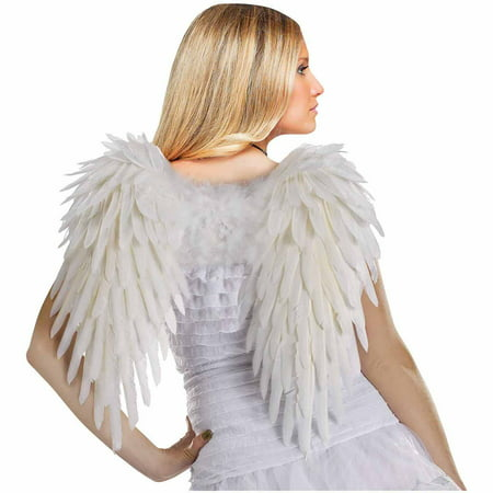 Adult White Feather Angel Wings Halloween Costume Accessory - Angel Wings Halloween
