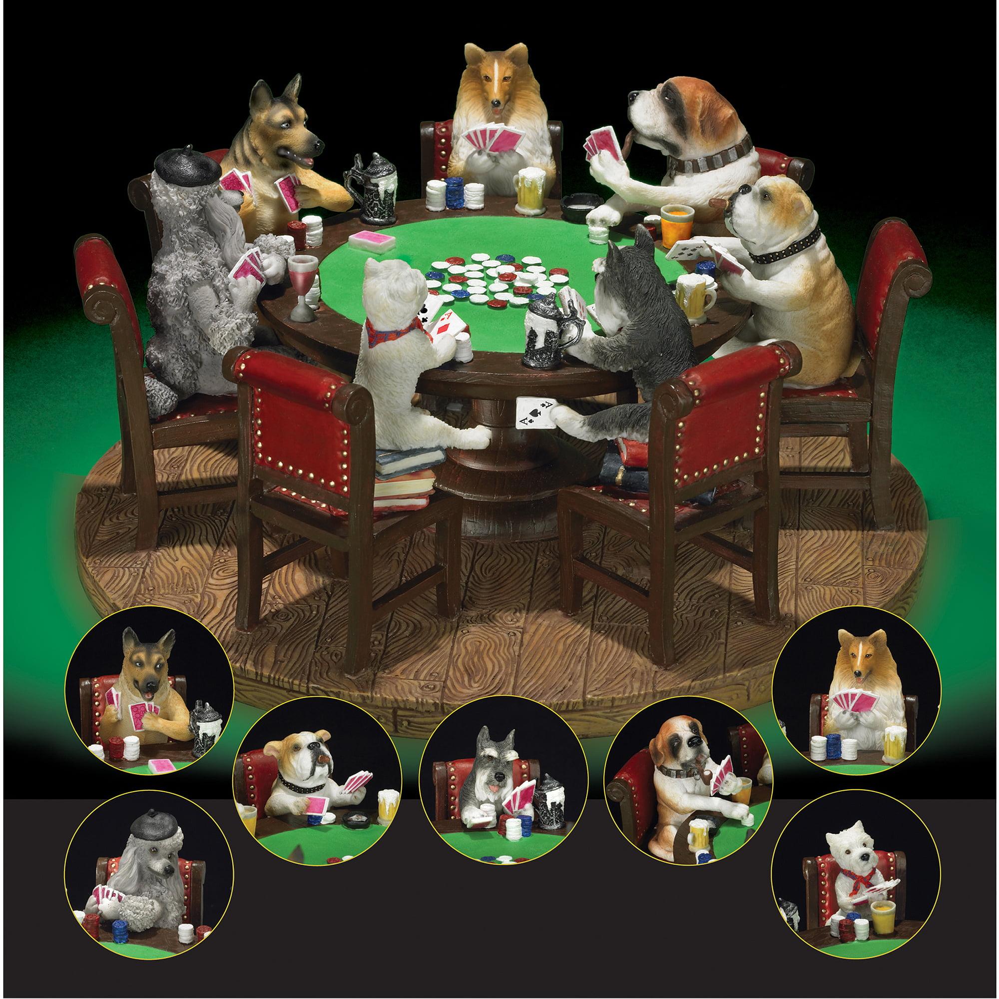 "Sport Design 9"" Poker Dogs Figure"