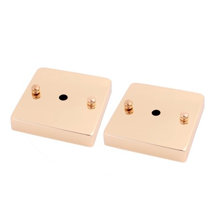 2 Pcs 100mmx100mmx20mm Pendant Light Lamp Ceiling Plate Chassis Base Gold Tone](Gold On The Ceiling Chords)