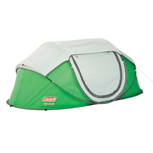 Coleman 2 Person Pre-Assembled Easy Instant Pop Up Camping Tent w  Taped Rainfly by Coleman Camping