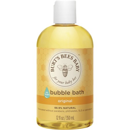 Burt's Bees Baby Bubble Bath, Tear Free Baby Wash - 12 oz Bottle - Bubble Blowing Double Baby
