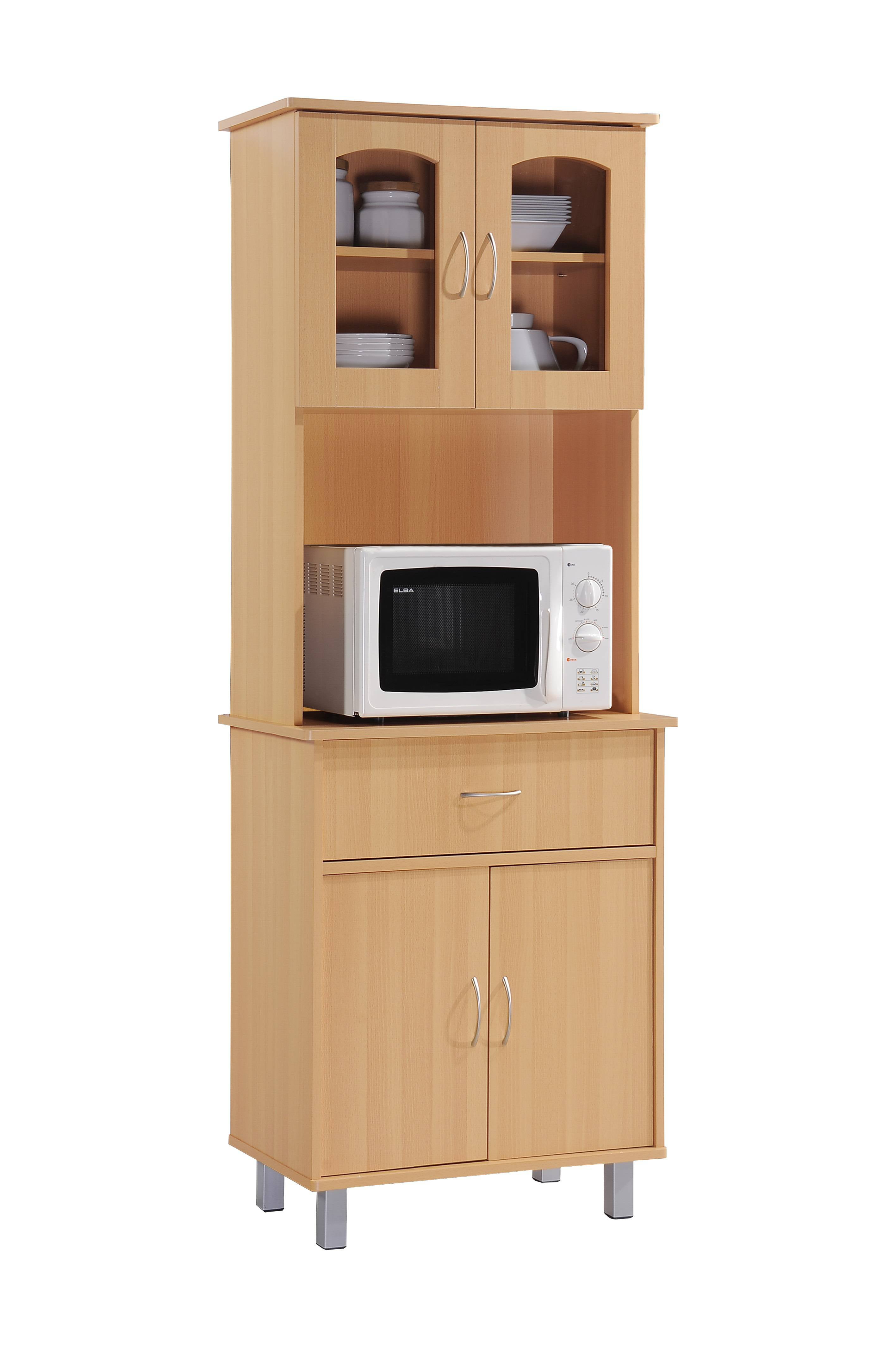 Hodedah Kitchen Cabinet with Top and Bottom Enclosed ...