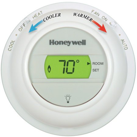 Honeywell round non programmable 1h 1c digital for Th 450 termostato