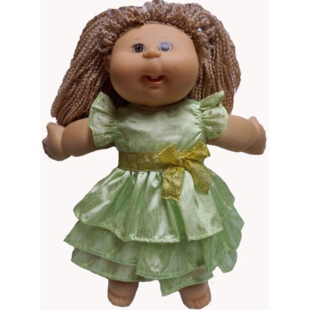 Cabbage Rose 3 Light (Cabbage Patch Kid Doll Lime Ruffle Dress Also Fits 18 Inch Girl Dolls)