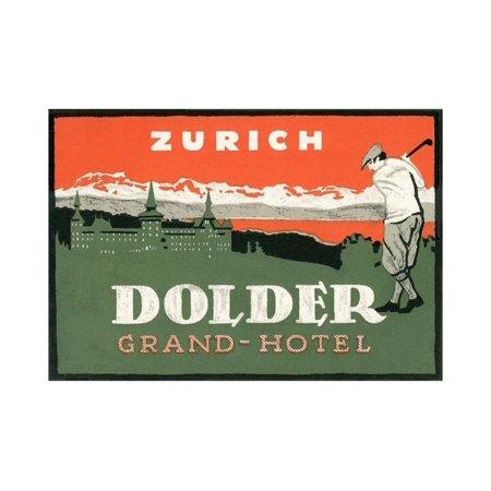 Grand Hotel Dolder, Zurich Print Wall Art By Found Image Press