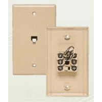 Allen Tel Products AT216SM-4 FLUSH JACK 4 WIRE IVORY