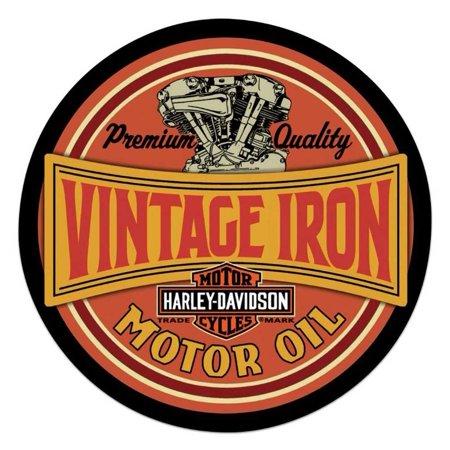 - Harley-Davidson Vintage Iron Bar & Shield Embossed Tin Sign, 14 inch 2011491