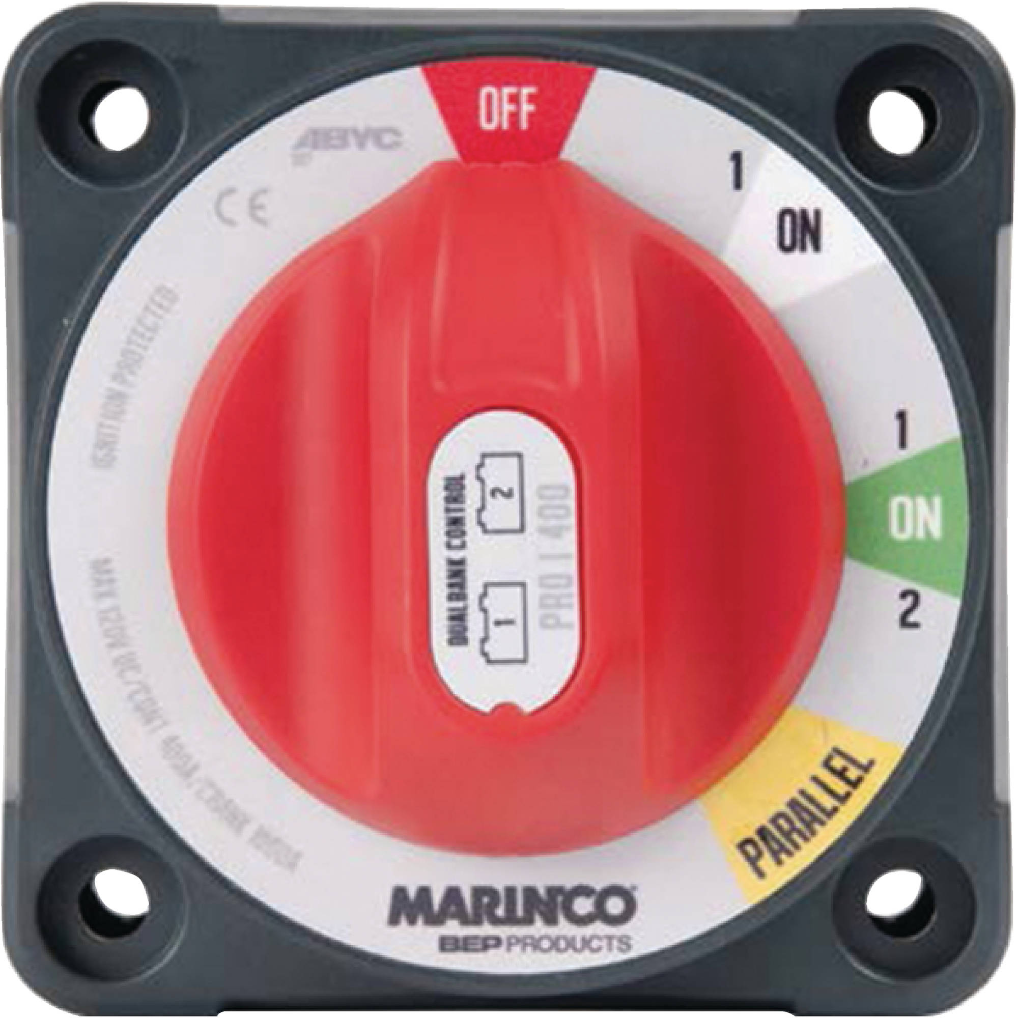 Marinco 772-DBC Pro Installer Dual Bank Control Battery Switch (1,1/2, Parallel, Off)