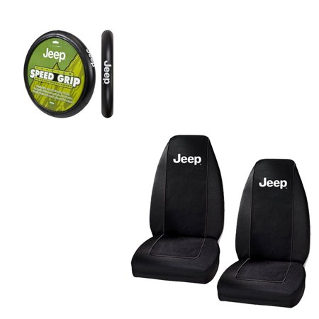 Jeep Logo 2 Seat Covers And Wheel Cover