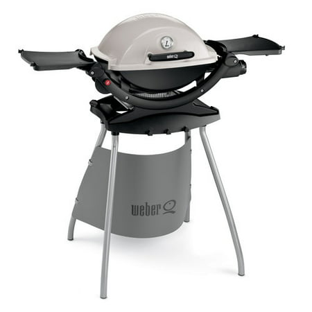 Weber q120 1 burner portable lp gas grill with stand for Barbecue weber gaz q120