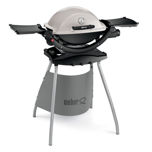 Weber Q120 1 Burner Portable LP Gas Grill With Stand