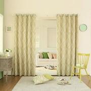 Best Home Fashion, Inc. Wave Room Geometric Room Darkening Grommet Curtain Panels (Set of 2)