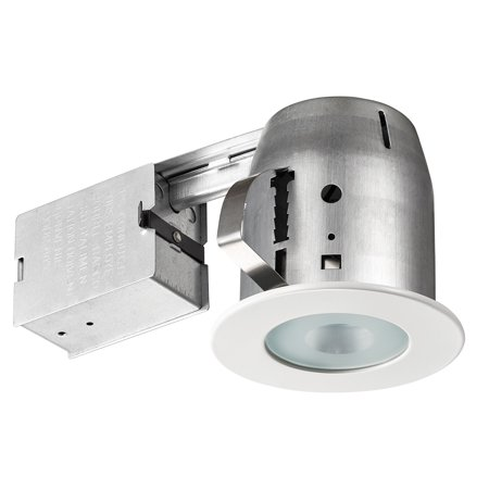 - Globe Electric 4 in. Glossy White IC Rated Recessed Lighting Kit, LED Bulb Included, 91204