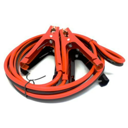 Premium Heavy Duty Jumper Booster Cables No Tangle Design (300 Amp 8 Gauge 10 -
