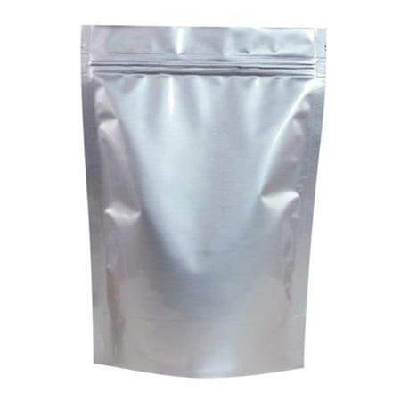 50 Pcs Aspire Silver Aluminum Foil Stand Up Pouch Food