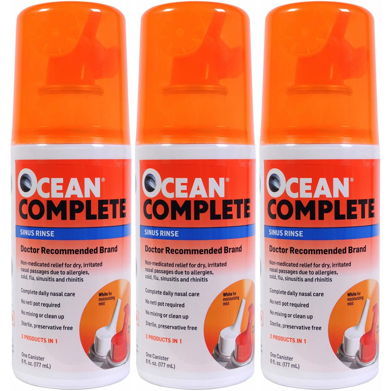 3 Pack - OCEAN Complete Sinus Rinse 6oz Each