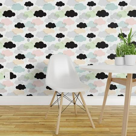 Wallpaper Roll Clouds Cloud Scandinavian Sky Pastel Rain Love 24in x 2