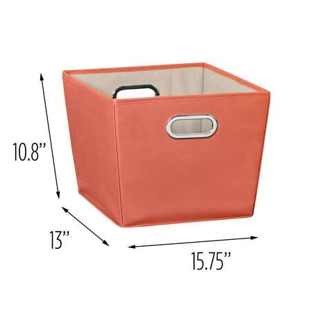 Honey-Can-Do Medium Storage Bin, - Orange Halloween Storage Bins