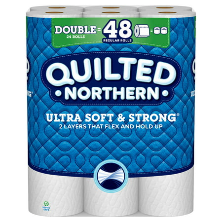 Quilted Northern Ultra Soft & Strong Toilet Paper, 24 Double - Talking Toilet Paper