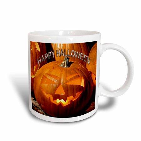 3dRose Happy Halloween, Ceramic Mug, 11-ounce